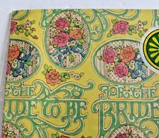 Vintage papercraft Gift wrap Wrapping paper 70's NOS Sealed Bride Shower wedding