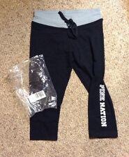 New Limited Edition Victoria's Secret Pink Nation Yoga Pants Sz M Crop Gym Pant