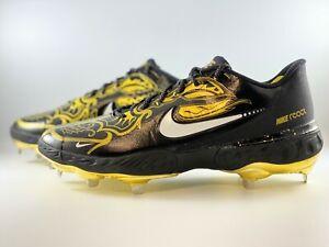 Nike Alpha Huarache Elite 3 Low Baseball Cleats Size 12 Black Gold CV3553-001