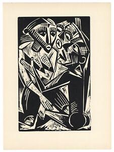 Max Pechstein original woodcut - Deutsche Graphiker der Gegenwart - 1920
