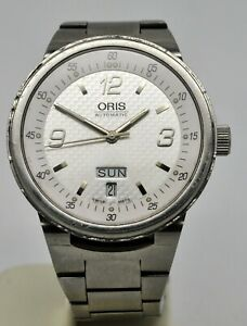 Oris William F1 day & date automatic stainless steel watch