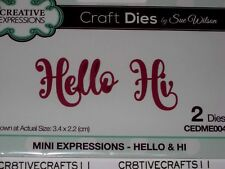 "CREATIVE EXPRESSIONS MINI COLLECTIONS ""HELLO & HI"" DIE  CEDME004 FOR CARDS"