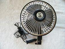 New listing 12 Volt Fan Oscillating 2 speed, circulation fan, lighter plug, car truck camper