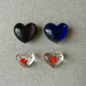 Small glass hearts for jewellery making, crafts or decoration