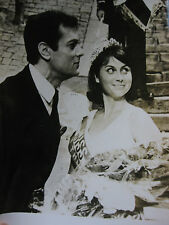 Photo presse vintage Miss France-Amérique Laforgue avec Tony Curtis 1963