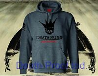 DEATH PROOF HOODED SWEATSHIRT HOT ROD GARAGE SPEED SHOP RAT HOODIE CONVOY DUCK