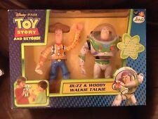 Disney Pixar Buzz Y Woody Walkie Talkie conjuntos Nuevo Sellado