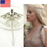 US! Game of Thrones Daenerys's Dragon Pin Jewelry Brooch Cosplay Accessories Hot