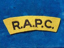 GREAT BRITAIN BRITISH RAPC Royal Army Paymaster Corps embroidered shoulder flash