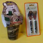 Mossy Oak Camo Sippy Cups, Baby Fork & Spoon Utensil Set, Pink, Green
