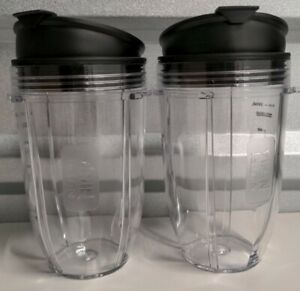 2-PACK Nutri Ninja 18oz Cup with Sip/Seal Lid for Auto IQ Series Blender