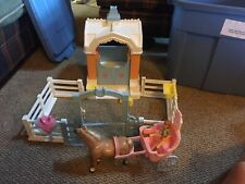 Vintage Playskool Dollhouse Horse Stable Barn 1994