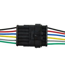 6-Polig Kabel Steckverbinder Stecker Elektrik Wasserdicht Schnellverbinder KFZ