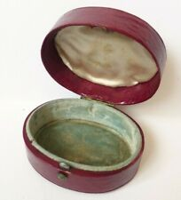 Ancien écrin boite en cuir pour bijou ou montre 19e siècle