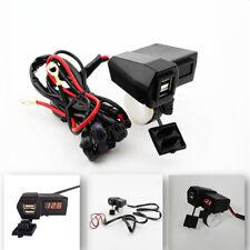 LED Voltmeter Dual USB Charger fit Kawasaki Vulcan VN 88 700 750 800 900 Classic