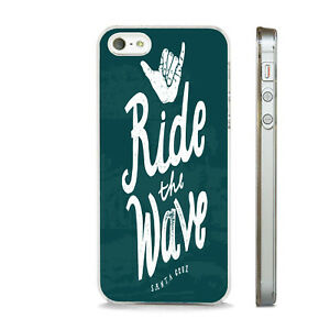 RIDE THE WAVE SANTA CRUZ SURF    PHONE CASE COVER FITS All APPLE IPHONE MODELS