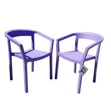 2er Set Designer Armlehnenstühle von Joan Gaspar / LILA /Ausstellungsware