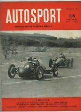 AUTOSPORT 27th FEBBRAIO 1953 * RARA francese sportscars *