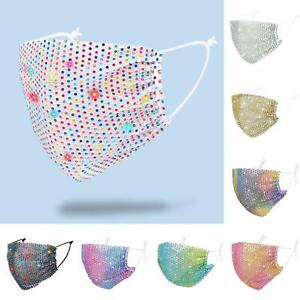 FASHION CRYSTAL GLITTER RHINESTONE SPARKLE-BLING REUSABLE FACE  COVER