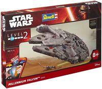 Revell Kit de Construction Modèle Star Wars Millennium Falcon 1:72, Level 2