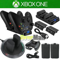For XBOX ONE Controller Play Dual Charging Dock+2x Rechargeable Battery Pack US