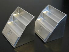 Pair Aluminum Angle Side Step Tool Box Tamiya 1/14 R/C King Grand Knight Hauler