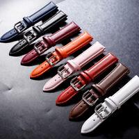 Universal Vintage Leather Wrist Watch Band Strap 12/14/16/18/20/22/24 mm