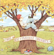 Make Nest Of Pleasant Thoughts-Handcrafted Fall Magnet-w/Mary Engelbreit art