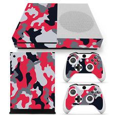 CAMO Series URBAN RED Xbox One S Skin Decal Wrap Vinyl Sticker ARMY PRINT