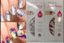 Lot of 2 INCOCO Nail Polish APPLIQUE 16 strips ea MASTERPIECE and CHEMISTRY
