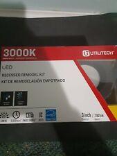"Utilitech LED 3"" Recessed 3000K Flush Mount Remodel Kit Bronze #0851365"