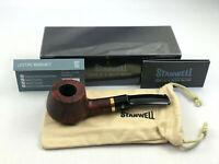 Stanwell Pfeife Deluxe 11 glatt braun - pipe pipa 9mm Filter Messing Ring