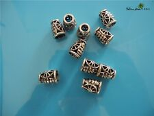 10 PCs Tibetan Carved Silver Metal Beads Set - Dreadlock Beads dread beads A05