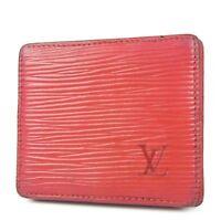 Sale! Auth LOUIS VUITTON M63697 Epi Monnaie Boite Coin Purse Wallet 1404b