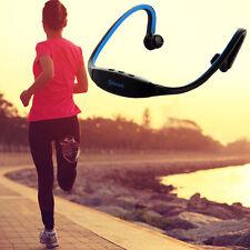 Blau Kabellos Bluetooth Headset Musik Kopfhörer Stereo für iPhone 5S/6S Sony HTC