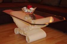 Glastisch Couchtisch Wohnzimmertisch Clubtisch Steinmöbel Creme 120cmx60cm Beige
