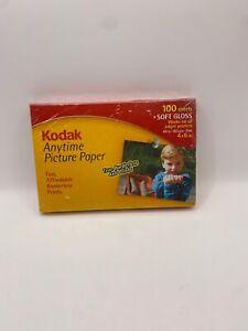 New Sealed 100 Sheet Soft Gloss Kodak Anytime Picture Paper Pack Inkjet
