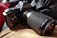 CANON T70 - 35mm SLR CAMERA WITH A SIGMA 80-200mm ZOOM LENS, 1 : 4.5~5.6