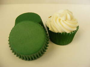48 x high quality dark green Muffin / Cup Cake cases