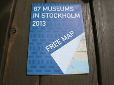 87 Museums in Stockholm, 2013 Map