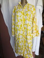 Vintage 1960's Brady dress yellow big white roses