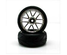 Redcat Racing Chrome Wheels & Tires V-tread pattern Fits Lightning PART # 02020C