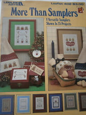 1985 More Than Samplers Cross Stitch Pattern Book #402 Christmas Home Welcome