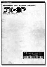 ROLAND JX-3P OWNER'S INSTRUCTION MANUAL JX 3P  JX3P - First Class Shipping!