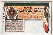 X048) TORTONA (ALESSANDRIA) 30 REGGIMENTO FANTERIA PISA. STAMPA  VERSO IN BLU VG
