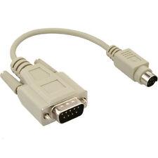 Adaptador Ratón teclado PS2 PS/2 Hembra 5 poli DIN macho pin pc ordenador