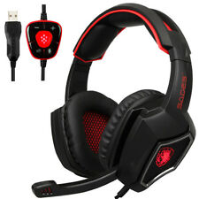 Sades Spirit Wolf Gaming Headphones Computer USB 7.1 Surround Sound Headset