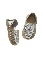 AUTH. BNWT BABY GAP GIRLS METALLIC HUARACHE SANDALS  (6-12M)
