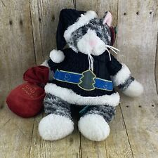 First & Main Purrrcilla Cat Plush Christmas Holiday Toy Sack Santa Hat 12 Inches