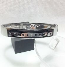 """Makuti Gioielli Stainless Steel and Crystal Bracelet, 7""""/18cm RRP £100"""